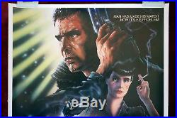 Blade Runner Original Movie Poster 1982 Vintage 1sh Linenbacked Rolled