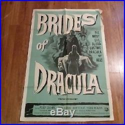 Brides Of Dracula 1960 Peter Cushing Hammer Films Original Vintage Poster