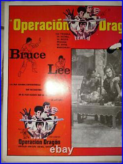 Bruce Lee Enter The Dragon 3 Movie Vintage Original Lobby Posters In Spanish