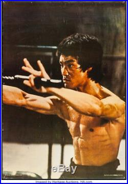 Bruce Lee in Enter the Dragon Original Vintage Personality Poster 1973