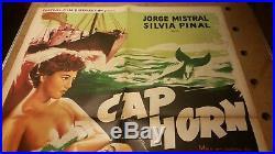 Cap Horn 80 x 60 cms Original 1950 French film Cinema poster Vintage Cafe France