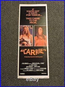 Carrie Original Vintage MOVIE POSTER 14x36 1976 Horror