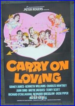 Carry On Loving Vintage Original 1970 Cinema One Sheet Uk Film Poster Unused