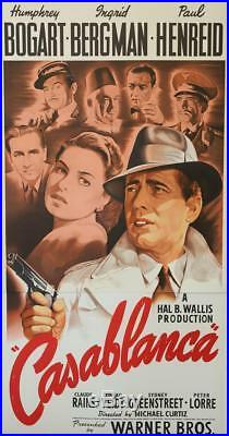Casablanca Vintage 3 Sheet Movie Poster Fine Art Lithograph Humphrey Bogart S2