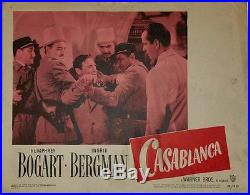 Casablanca Vintage Movie Poster Lobby Card Humphrey Bogart Lorre