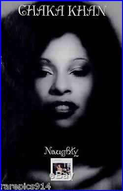 Chaka Khan Naughty Vintage Original Album Promo Poster 1980