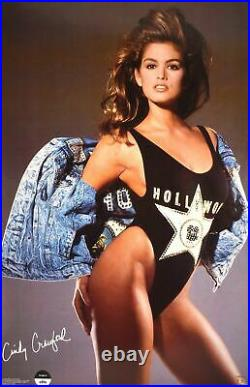 Cindy Crawford Hollywood Photo by Marco Glaviano 1989 Vintage Poster 22.5 x 34.5