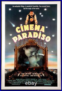 Cinema Paradiso Philippe Noiret 1990 Vintage 1-sheet Movie Poster Linenbacked