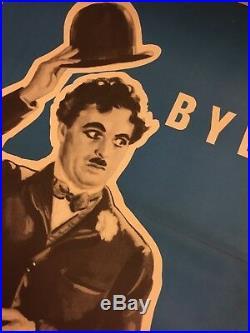 City Lights Charlie Chaplin 1953-54 Vintage Original Danish Cinema Movie Poster