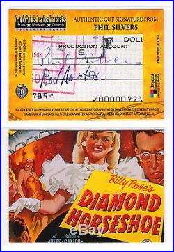 Classic Vintage Movie Posters Phil Silvers Cut Autograph Card #3 of 4 SGT BILKO