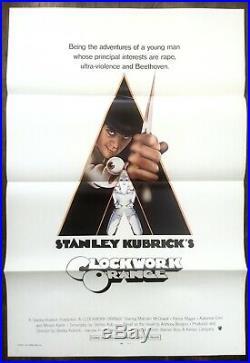 Clockwork Orange Vintage Kubrick film cinema movie poster quad art Bond 007 1971