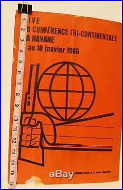 Cuban Poster Vintage 1966 Havana Cuba