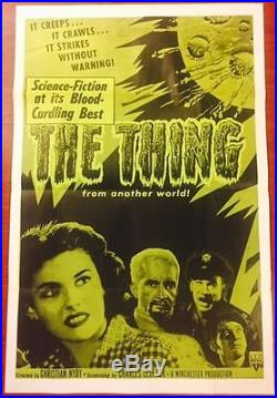 Cut Again! The Thing Vintage R57 Poster Howard Hawks Horror Classic