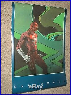 DAREDEVIL Vintage 1990 Poster SIGNED by STAN LEE Marvel/Movie MOEBIUS ART