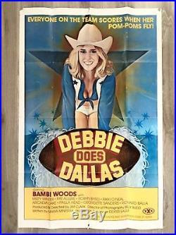 DEBBIE DOES DALLAS film movie poster original vintage advertising enamel ski XXX