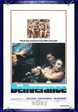 DELIVERANCE CineMasterpieces VINTAGE ORIGINAL MOVIE POSTER 1972