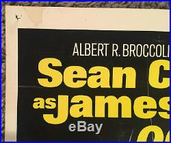 DIAMONDS ARE FOREVER Original 1971 Insert Movie Poster! 007 James Bond Vintage
