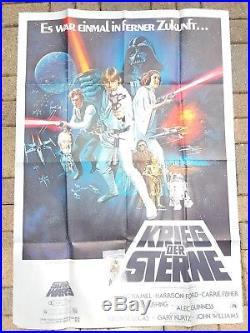 DIN A 0 original 1977 STAR WARS vintage Movie POSTER Kino Krieg der Sterne Kino
