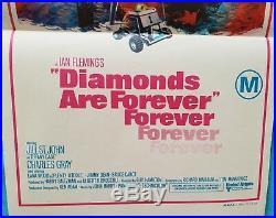 Diamonds are Forever VINTAGE Australian Daybill Movie Poster 1971