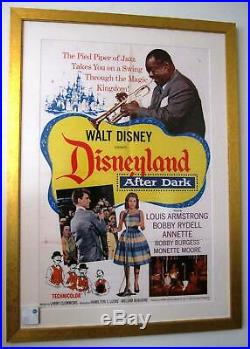 Disneyland After Dark 1962 Vintage Movie Poster Louis Armstrong Walt Disney