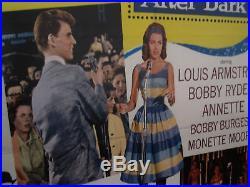 Disneyland After Dark Framed Vintage Disney Movie Poster Louis Armstrong 1962