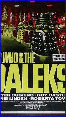 Dr Who And The Daleks Vintage Movie Poster Original Not A Reprint Rare