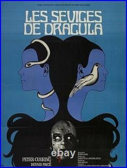 Dracula Vintage European Vampire Horror Movie Poster Canvas Giclee 24x30 in