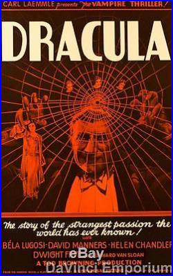 Dracula Vintage Movie Poster Lithograph Bela Lugosi Hand Pulled S2 Art Ltd Ed