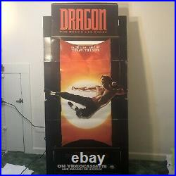 Dragon The Bruce Lee Movie Promo Video Store Standee With Box Vintage Poster