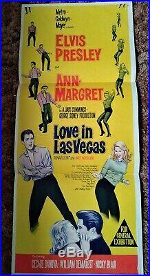 ELVIS LOVE IN LAS VEGAS VINTAGE Australian Daybill Movie Poster 1964