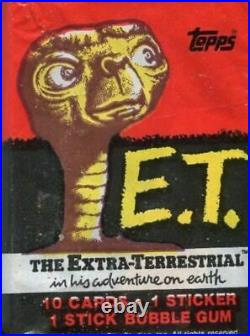 E. T. The Extra-Terrestrial Movie Vintage Trading Card Wax Box