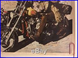 Easy Rider Duo Original Vintage Poster Movie Pin-Up Dennis Hopper & Peter Fonda