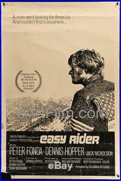 Easy Rider vintage movie poster Fonda Hopper Nicholson 1969 40x60