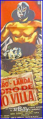 El Tesoro De Pancho Villa Mexican Movie Poster 1954 Vintage