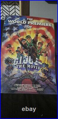 Extremely Rare Laminated Hasbro 1987 G. I. Joe The Movie Poster Vintage