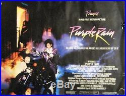 Extremely Rare Original Vintage 1984 Prince Purple Rain Uk Movie Poster 30x40