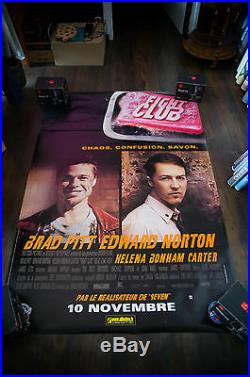 FIGHT CLUB 4x6 ft Bus Shelter Vintage Movie Poster Original 1999