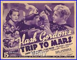 FLASH GORDON'S TRIP TO MARS VIntage Original Lobby Card BUSTER CRABBE Serial