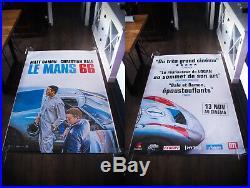 FORD V FERRARI LE MANS 66 5x8 ft Original Vintage Movie Poster 2019