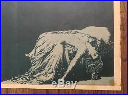 FRANKENSTEIN (1931) Vintage Original 1-Sheet Poster Boris Karloff on Rampage