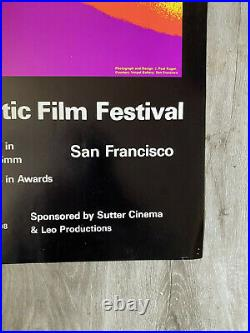 First International EROTIC FILM FESTIVAL Poster 1971 PAUL KAGAN Psychedelic