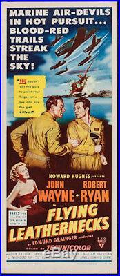 Flying Leathernecks Vintage Movie Poster Insert John Wayne