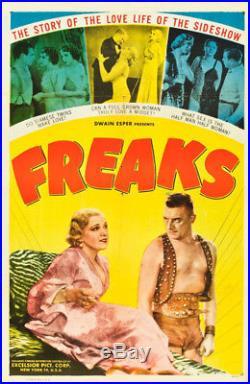 Freaks Vintage Horror One Sheet movie poster 1932