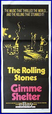 GIMME SHELTER Vintage Original Daybill Movie Poster The Rolling Stones