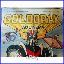 GOLDORAK GOLDRAKE GRANDIZER 1979 MOVIE POSTER RARE VINTAGE 120 cm X 160 cm