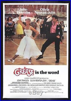 GREASE CineMasterpieces VINTAGE ORIGINAL UK BRITISH MOVIE POSTER 1978 MUSICAL