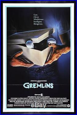 GREMLINS CineMasterpieces VINTAGE ORIGINAL MOVIE POSTER 1984