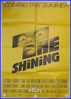 Genuine The Shining Vintage Jack Nicholson 1979 Teaser UK One Sheet Film Poster