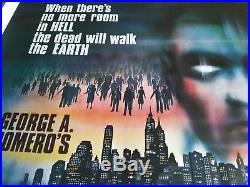 George Romero's Dawn of the Dead vintage original UK Quad Theatrical Poster 1979