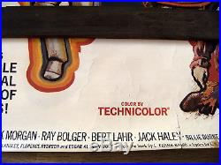 Giant Size Vintage Original Wizard Of Oz Mgm Movie Poster Silkscreen 5 Ft. Long